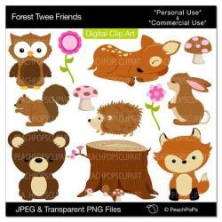 Dear clipart cute forest animal