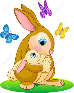 Mommy clipart rabbit