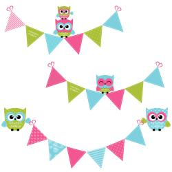 Funky clipart flag bunting