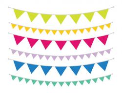 Single clipart bunting