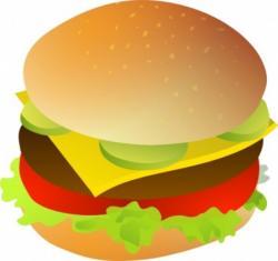 Hamburger clipart half eaten