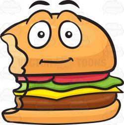 Burger clipart bitten