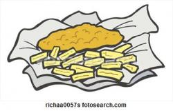 Chips clipart fish and chip
