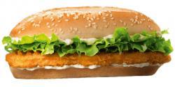 Burger clipart fried chicken
