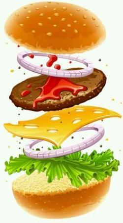 Burger clipart oblong