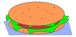 Hamburger clipart thin