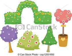 Hedges clipart tree bush