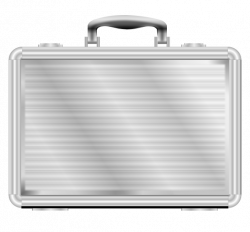 Gray clipart suitcase