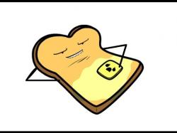 Toast clipart melted butter