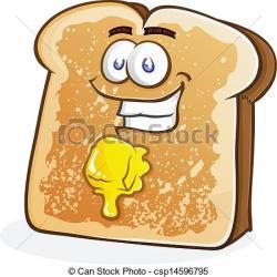 Toast clipart cartoon
