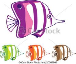 Butterflyfish clipart fish drawing