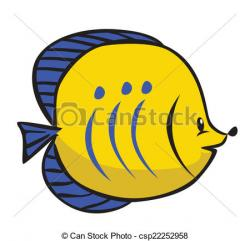 Butterflyfish clipart vector
