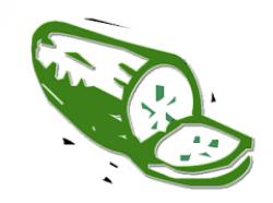 Cucumber clipart animated