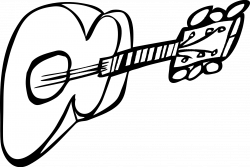 Drawn guitar