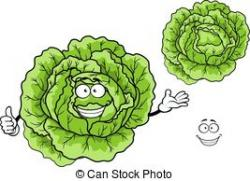 Cabbage clipart happy
