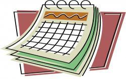 Date clipart year calendar