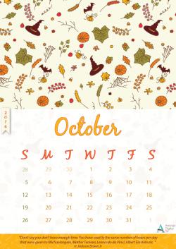 Fall clipart october calendar