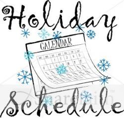 Holydays clipart calendar