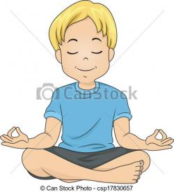 Meditation clipart calm person