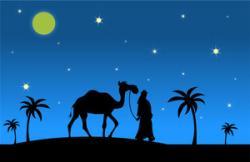 Camels clipart arab man