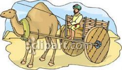 Cart clipart camel
