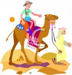 Sahara clipart camel ride