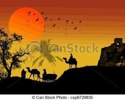 Oasis clipart sahara desert