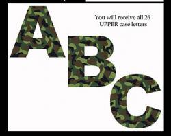 Camo clipart letter