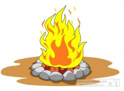 Flames clipart camp fire
