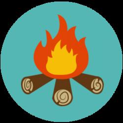 Bonfire clipart campfire story