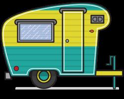 Vintage clipart camper trailer