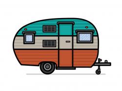 Caravan clipart travel trailer