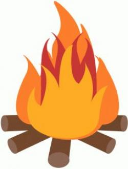 Fireplace clipart camp