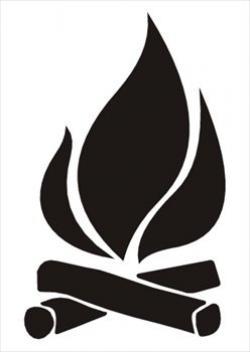 Bonfire clipart silhouette
