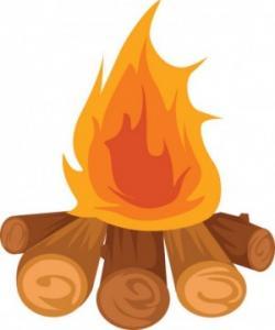 Bonfire clipart beach bonfire