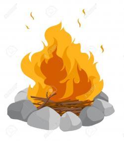 Bonfire clipart cartoon