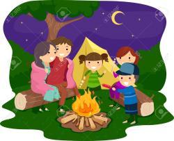 Campire clipart family campfire