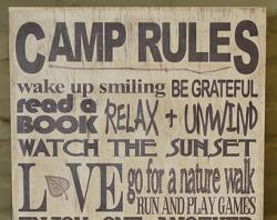 Campire clipart camp rules
