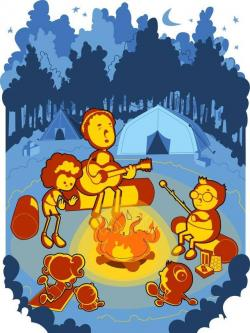 Campire clipart campfire story