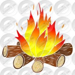 Campfire clipart