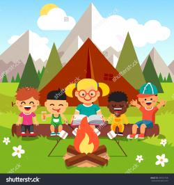 Campire clipart kid campfire