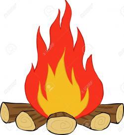 Bonfire clipart log fire