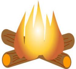 Campire clipart log fire