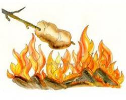 Campire clipart roast marshmallow