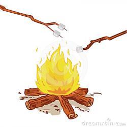 Roast clipart campfire marshmallow