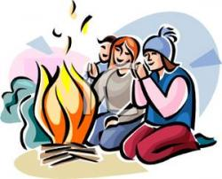 Camp Fire clipart winter camping