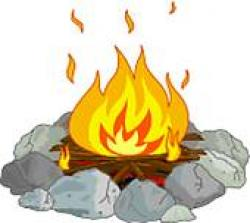 Campire clipart wood fire