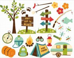 Lake clipart camper