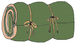 Camp clipart sleeping bag