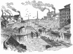 Canal clipart black and white